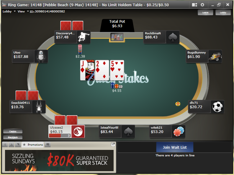 Poker table ratings discount code